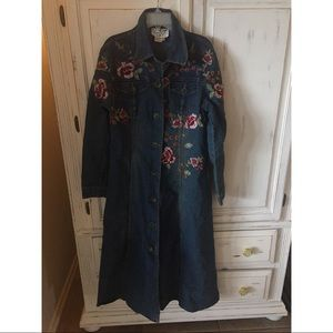 Vintage Beaded Jean Trench